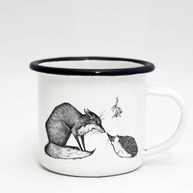 Mistletoe  Emaille Coffee cup
