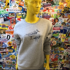 Birds Couple grey crew neck sweater