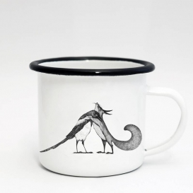 Friends Hug Emaille Coffee cup