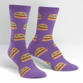 Burger Face socks