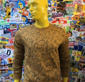 Haulm mustard crew neck sweater