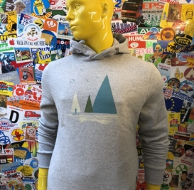 Stand-Up Paddle grey hooded sweater