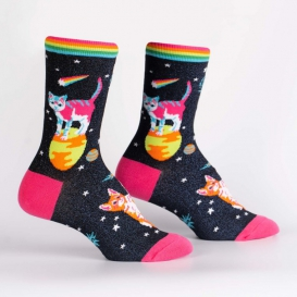 Space Cats Shine socks