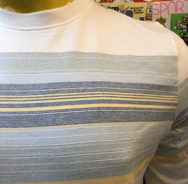 Mads stripe crew neck sweater