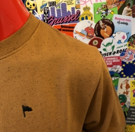 Genuine nep mustard crew neck sweater