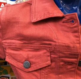 Meibel spice red jeans jacket