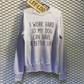 Work Hard Dog Crew Neck sweater