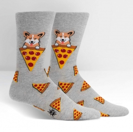 Corgi Pizza socks