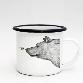 Honey Bear Emaille Coffee cup