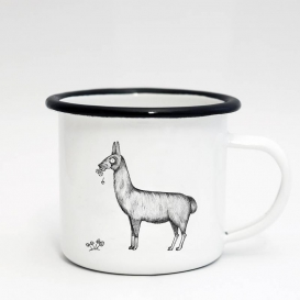 Lama Food Emaille Coffee cup