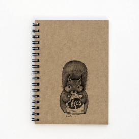 Squirrel Snack A6 notebook