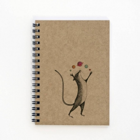 Planet Mouse A5 notebook