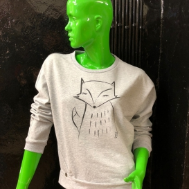 Organic Fox Crew Neck sweater