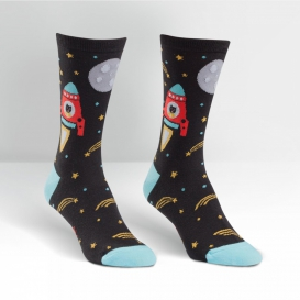 Cats To The Moon socks