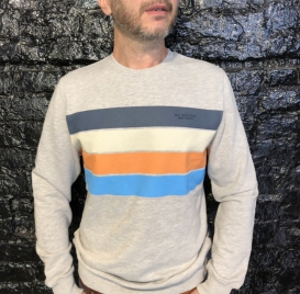 Daily Goods Stripes Crew Neck sweater